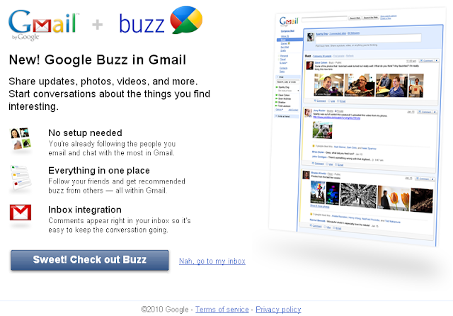 New! Google Buzz in Gmail