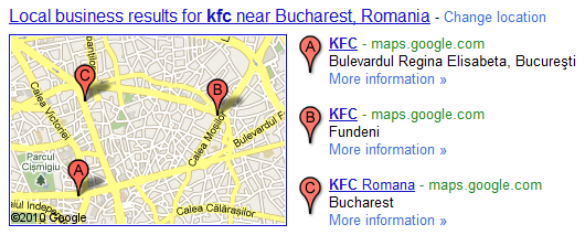 Google search Local business results