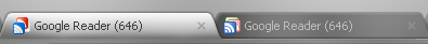 Google Reader old and new favicons