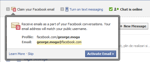Facebook Messages Claim your email