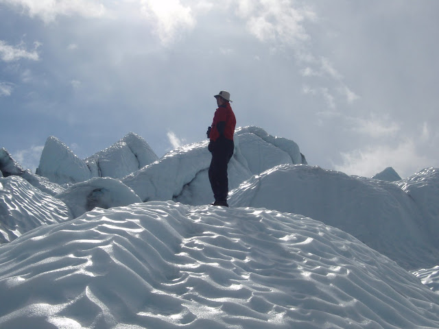 Eu no alto de uma montanha de gelo