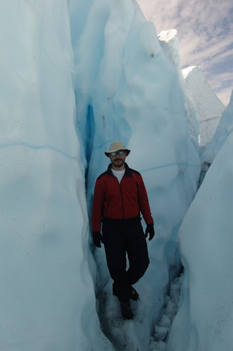 Eu, numa greta no gelo