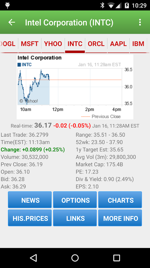 Stock Quote- screenshot