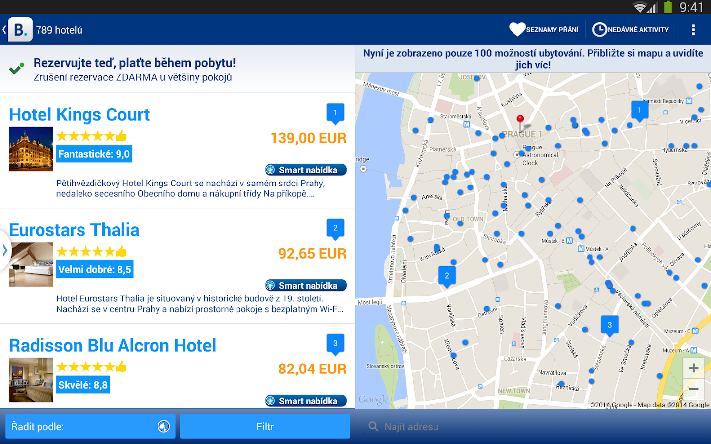 Booking.com - rezervace hotelů - screenshot