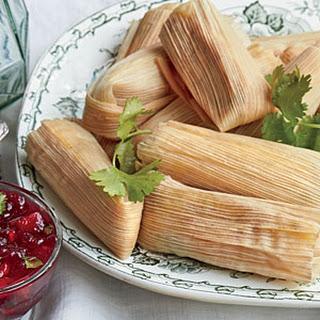 Cheesy Thanksgiving Tamales