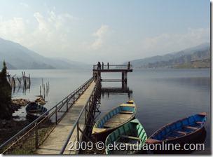 Three pics on the shore of Phewa Lake