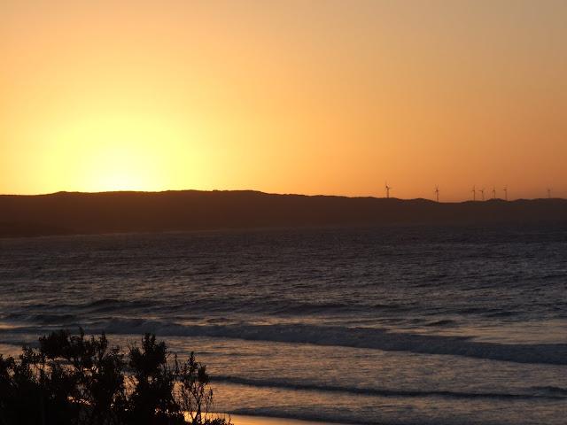 Sunrise at Cosy Corner beach