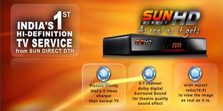 indoelectronico sun direct hd india s first hi definition tv service. Black Bedroom Furniture Sets. Home Design Ideas