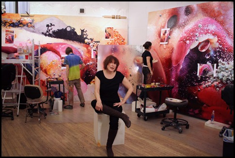 Marilyn Minter in her Soho studio, New York, 2009