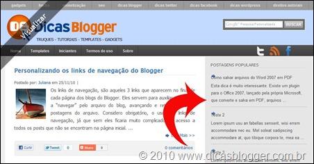 c9d4de0b0f Personalizando o gadget Postagens Populares - Dicas Blogger