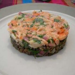 Tuna Tartare with Scallops and Lentils Recipe