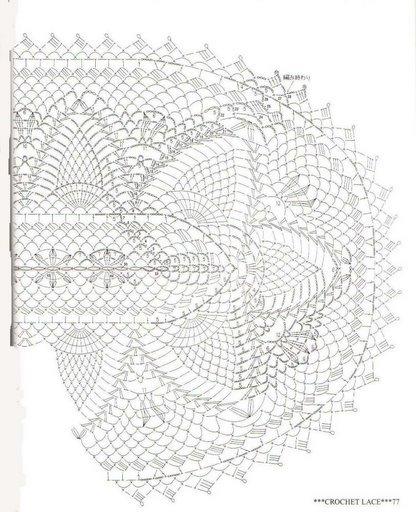 مفارش كروشية بالباترون - طريقة عمل مفارش كروشية بالباترون - مفرش كروشي 88101667711732636.jpg
