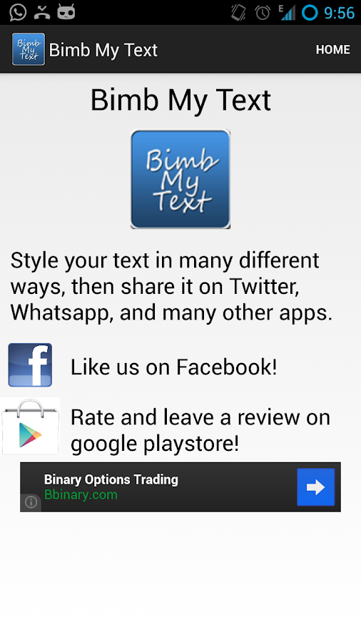Bimb My Text - BBM Your Text - screenshot