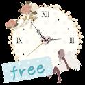 *sweet* 秒針つきアナログ時計ウィジェット free icon