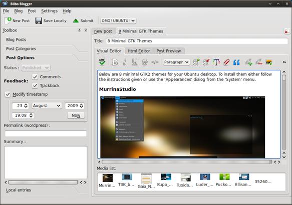 Desktop Blog Editor For Ubuntu - OMG! Ubuntu!