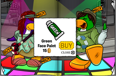 Green Face Paint :)