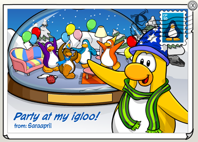 Igloo Party Postcard