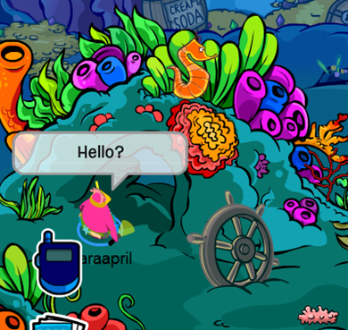 Underwater Cave in Club Penguin :)