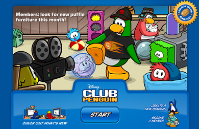 Puffle Party Log in Background :)