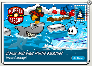 Puffle Rescue Postcard :)