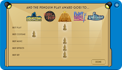 Voting Boohth ResultPenguin Play Awards 2010 :)