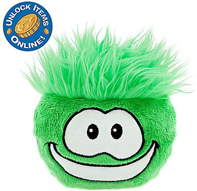 Club Penguin 6'' Green Pet Puffle :)