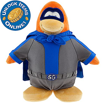 Club Penguin 9'' Limited Edition Penguin Plush - Shadow Guy  :)
