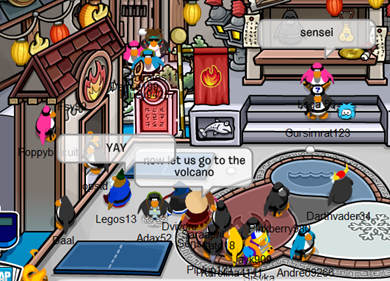 SENSEI in FIRE Outfit Dojo Club Penguin
