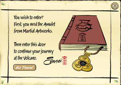 Message from Sensei about Amulet