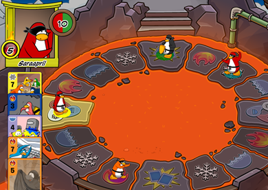 Sensei Fire Card-Jitsu Club Penguin