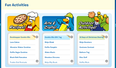 Fun Activities Club Penguin :)