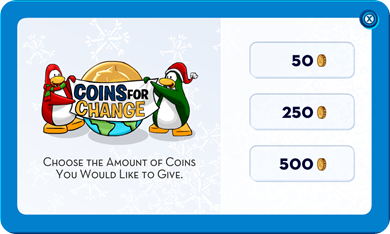 Make a Coins for Change Donation