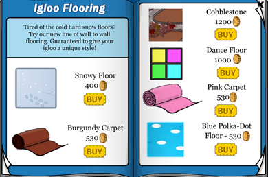 Igloo Flooring Club penguin