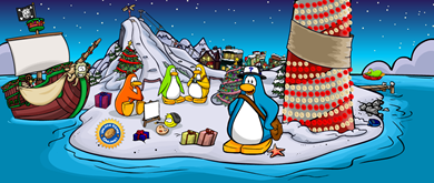 Home Page Picture in Club Penguin