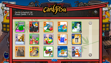 Card-Jitsu Cards