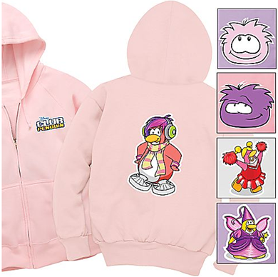 Create-Your-Own Zip-Front Hoodie Club Penguin Sweatshirt for Kids :)