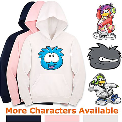 Create-Your-Own Club Penguin Hoodie Pullover Sweatshirt for Kids :)