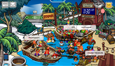 Rockhopper at Snow Forts :)