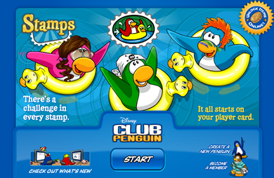 Stamps in Club Penguin :)