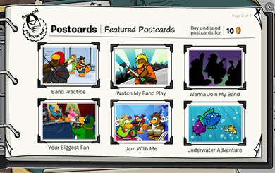 Club Penguin Postcards :)
