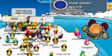 Saraapril in Club Penguin: Earning Club Penguin Stamps FUN with Friends :)