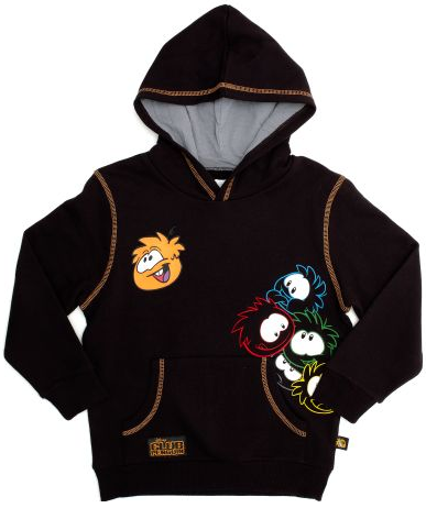 Club Penguin Black Puffle Hooded Top :)