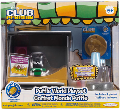 Disney Club Penguin Wave 4 Puffle World Playset -Skateboarding :)