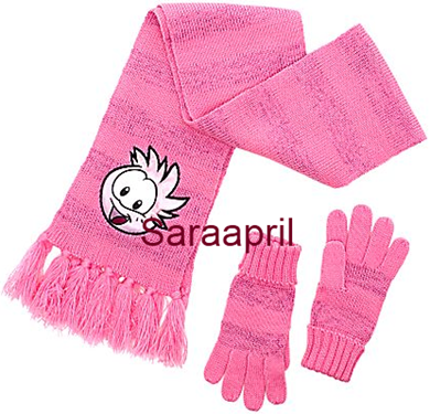 Club Penguin Pink Scarf and Gloves :)