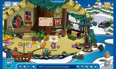 Saraapril's Rockhopper Igloo HAPPY Earth Day Party from Saraapril Widescreen :)