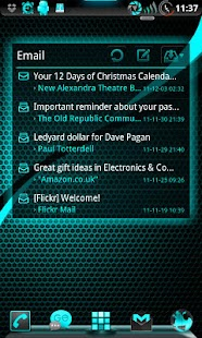 GOWidget ElectricCyan ICS-Free - screenshot thumbnail