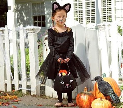 Como hacer un disfraz de gato para niña con un tutú