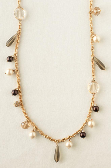 fall audrey cluster necklace