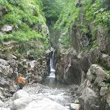 ガッコ沢出合から、中俣沢入口の登れない滝