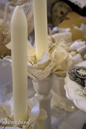 Pattern paper candles